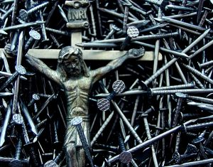 lent, cross with nails
