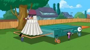 Baljeet, Ferb, Phineas, Isabella