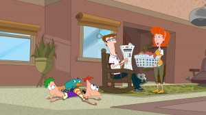 FERB, PERRY THE PLATYPUS, PHINEAS, DAD, MOM