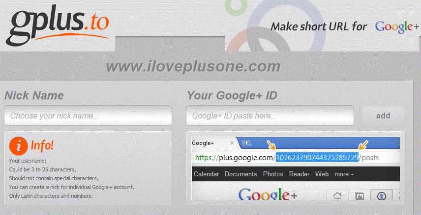 Tutorial:  Get A Google+ Vanity URL