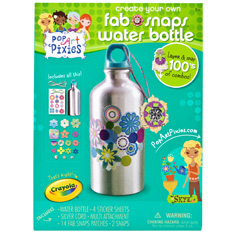 Pop Art Pixies Fab Snaps Water Bottle