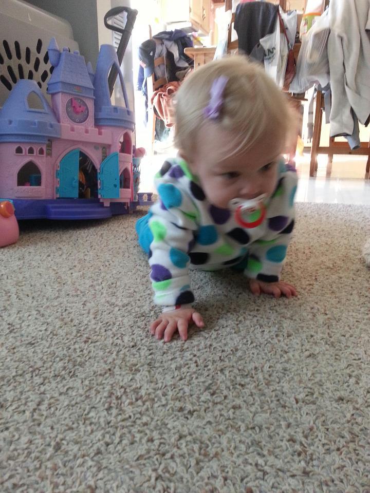 Jemma crawling