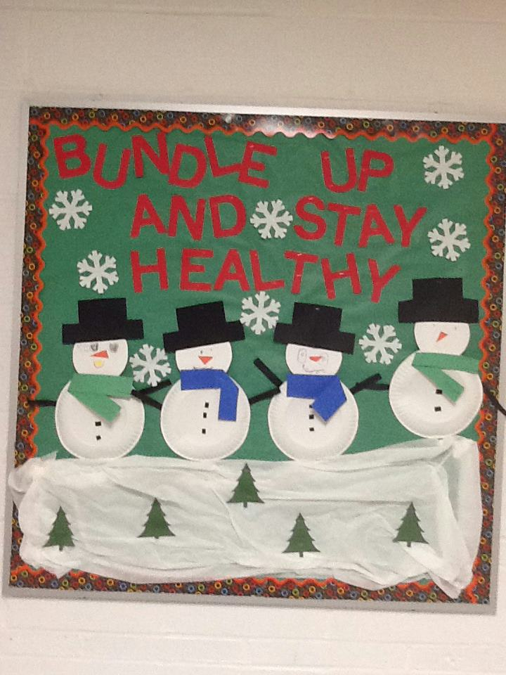winter school nurse bulletin board