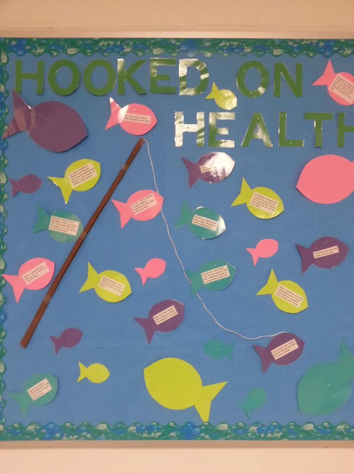 hooked on health bulletin board