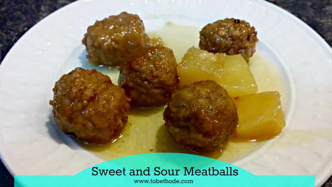 sweet and sour meatballs