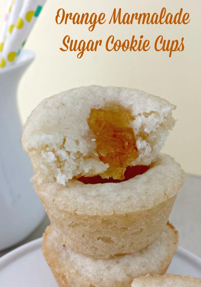 Orange Marmalade Sugar Cookie Cups
