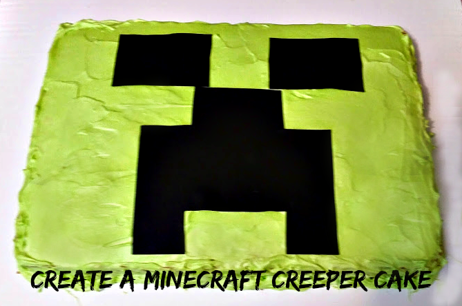 Create a Minecraft Creeper Cake