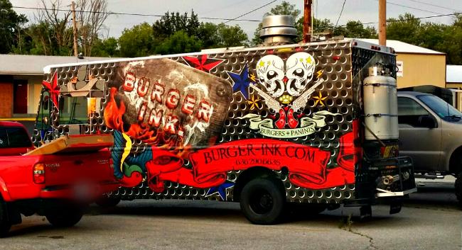 Food Truck Tattoed Dog