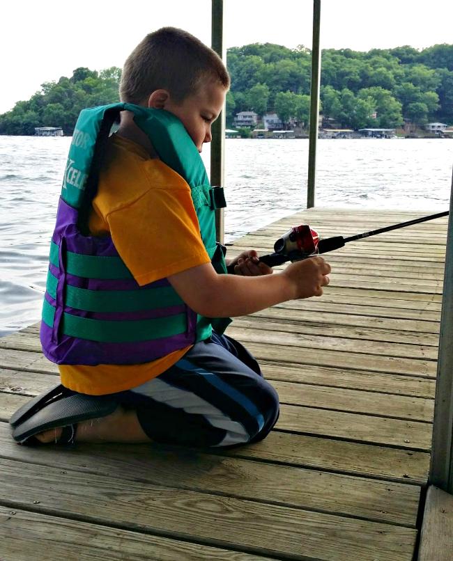 Johnny fishing