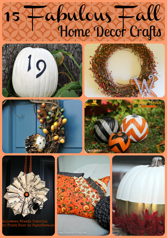 15 Fabulous Fall Home Decor Crafts