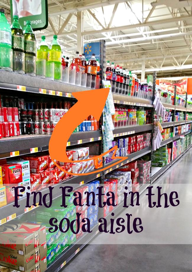 fanta soda aisle