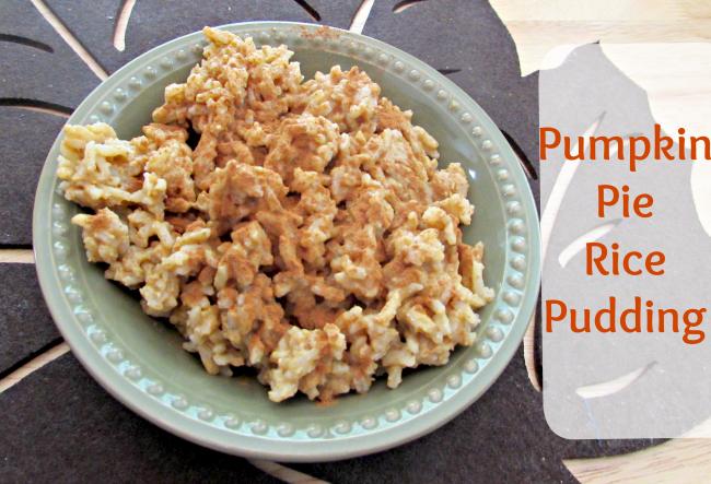 pumpkin pie rice pudding