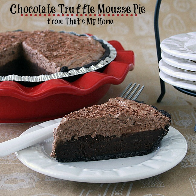 chocolate truffle mousse pie
