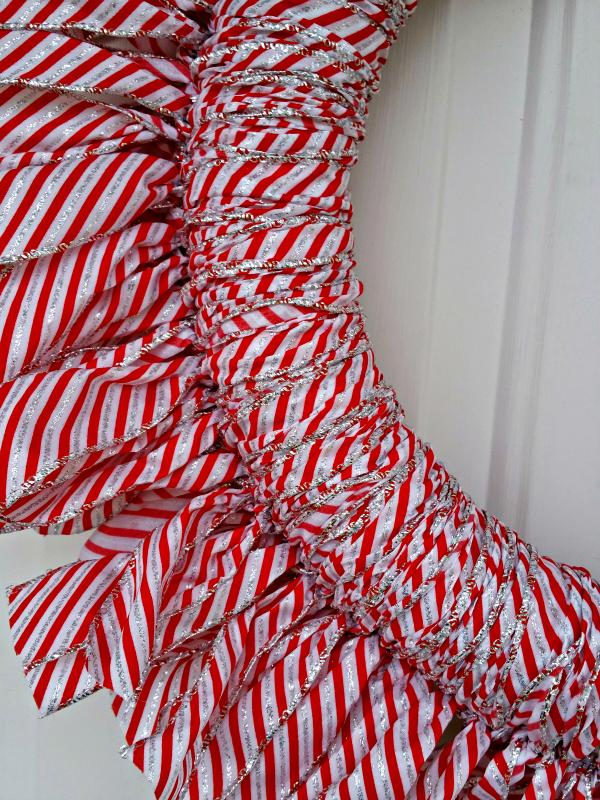ribbon wreath close up