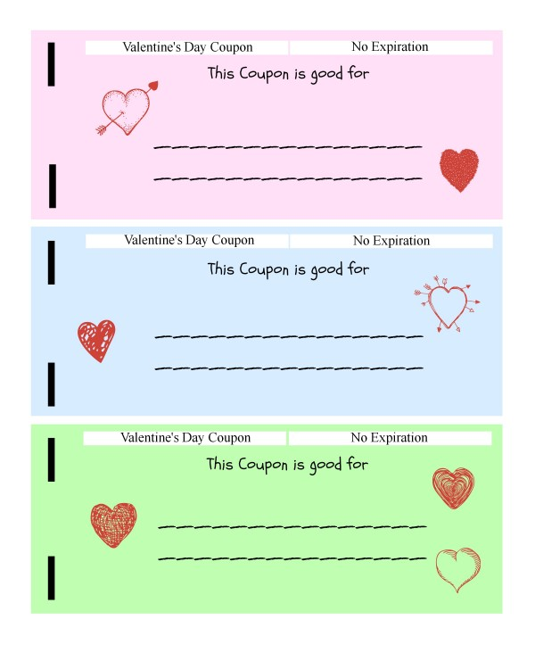 Free Printable Coupon Books For Kids Kids Vday Coupon Book Page 3