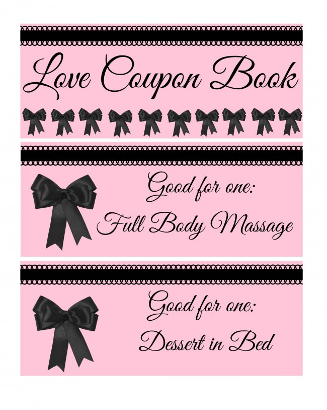 valentines day coupon book 1 - Valentines Day Coupon Book