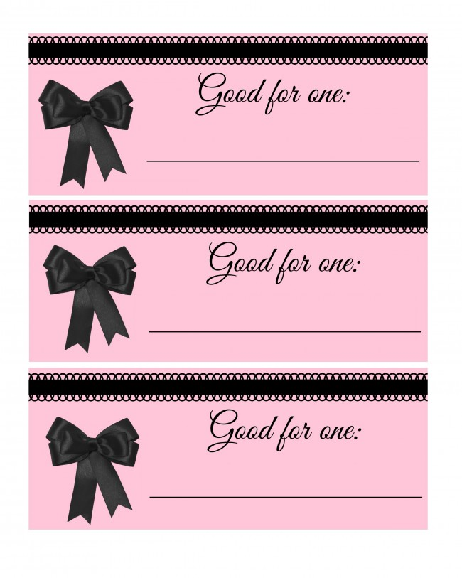 blank valentines day coupon book
