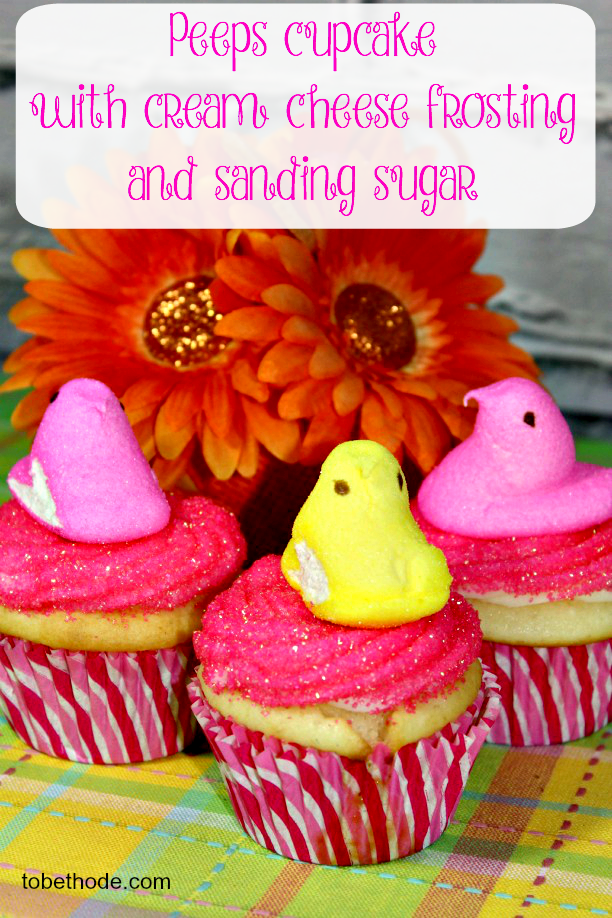 Peeps Cupcakes with cream cheese frosting