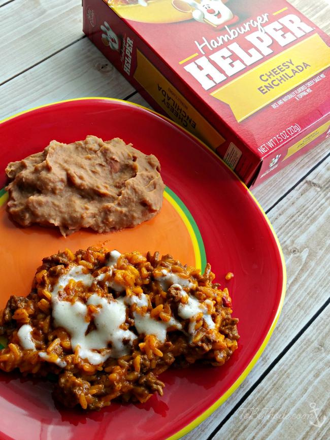 cheesy enchilada meal