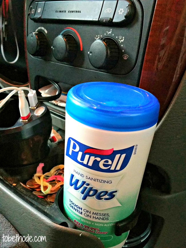 purell in car