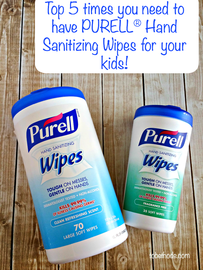 Keeping hands and faces clean with PURELL® Hand Sanitizing Wipes