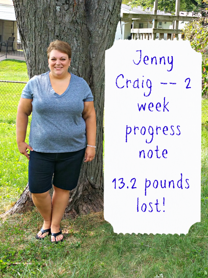 Jenny Craig 2 Week Progress Report
