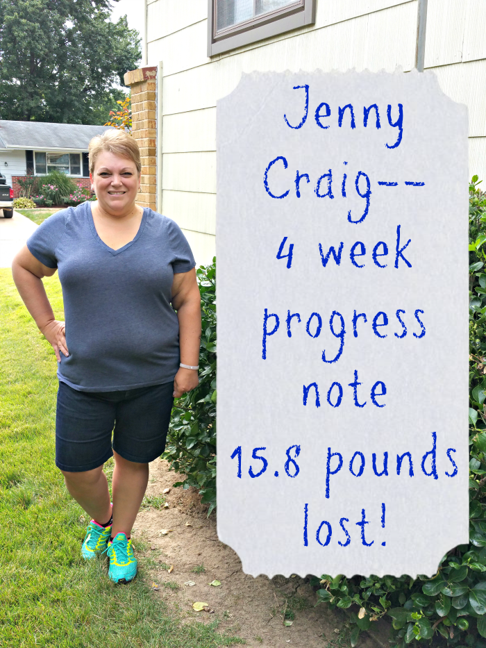 Jenny Craig Update Week 4 Progress Report