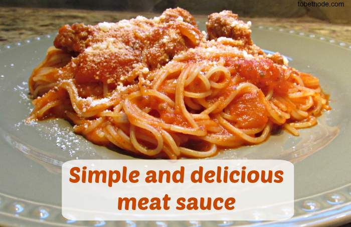 Simple and Delicious Meat Sauce