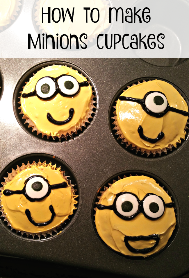 how to minions cupcakes