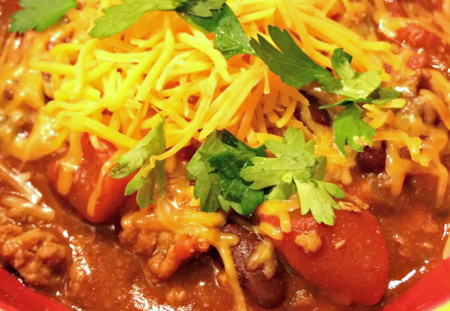 Our favorite chili recipe and fresh herb hack