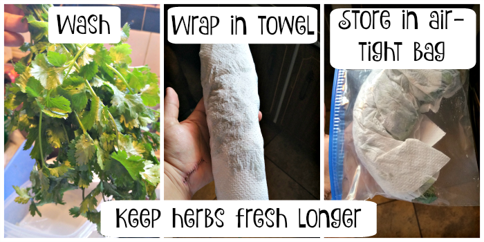 keep herbs fresh