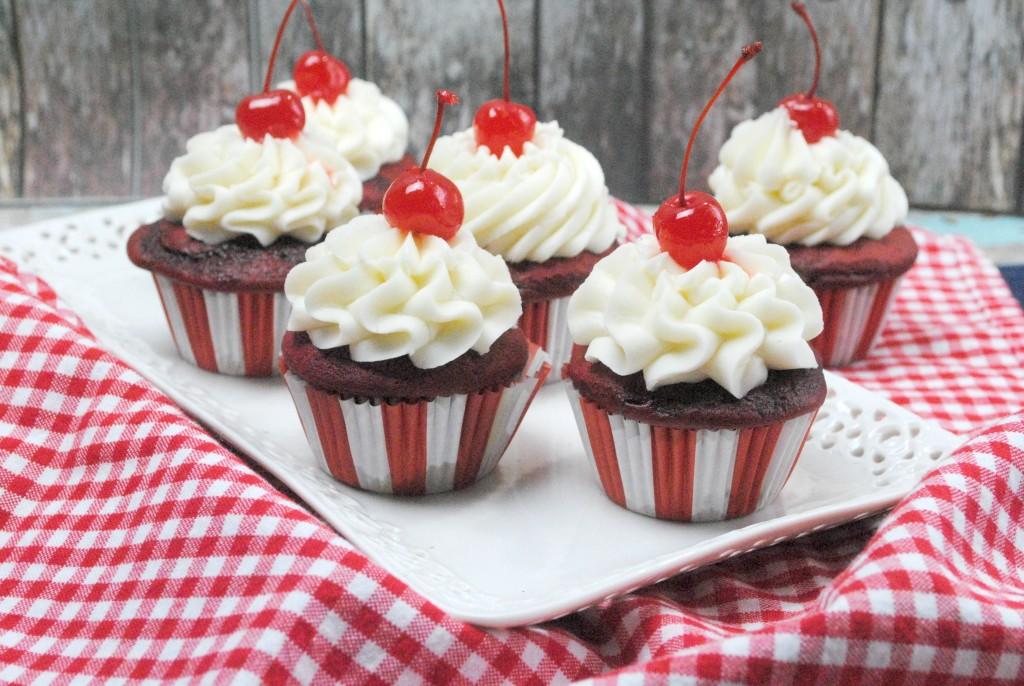 cherry vanilla coke cupcake
