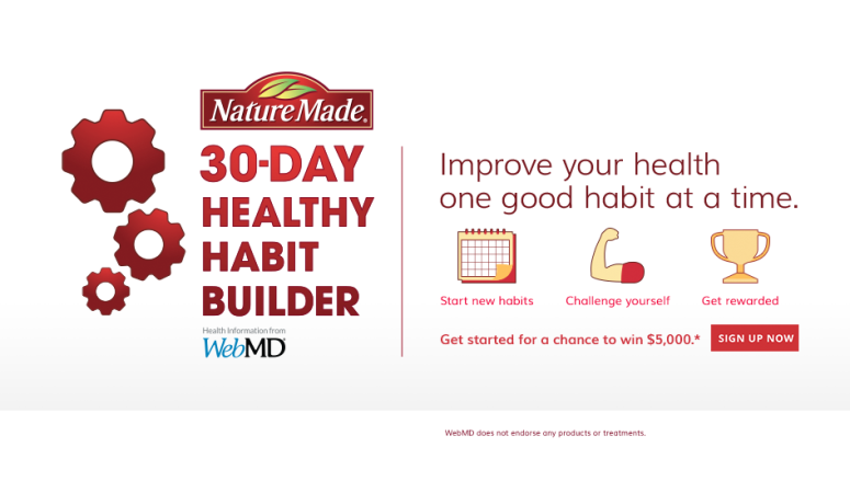 Get tips to meet your health goals with the Nature Made Challenge
