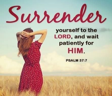 surrender to god