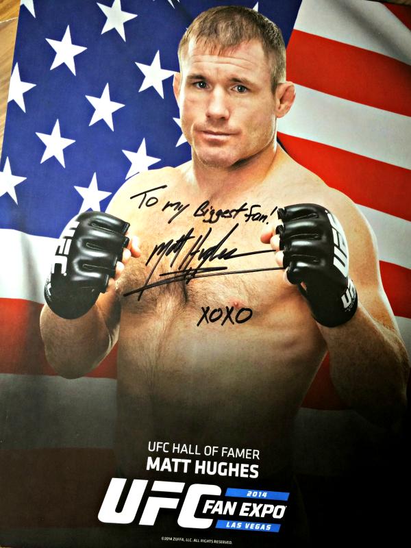 matt hughes autographed photo
