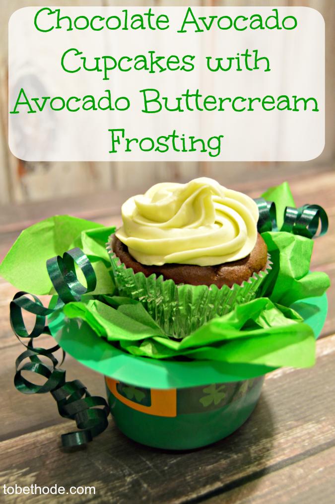 chocolate avocado cupcake