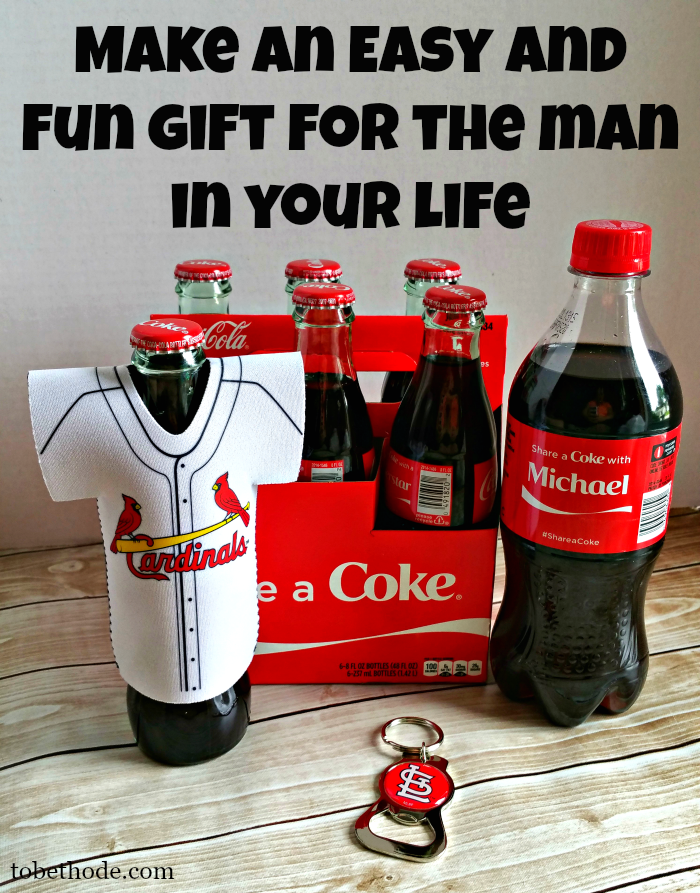 Make an easy gift for the man in your life with Coke!