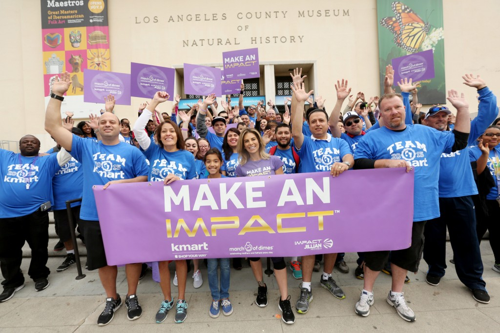 Kmart has teamed with celebrity fitness icon, mom and Kmart ambassador, Jillian Michaels to kick-off its 2015 fundraising support for the March of Dimes on Sat., April 25, 2015, in Los Angeles. (Photo by Casey Rodgers/Invision for Kmart/AP Images)