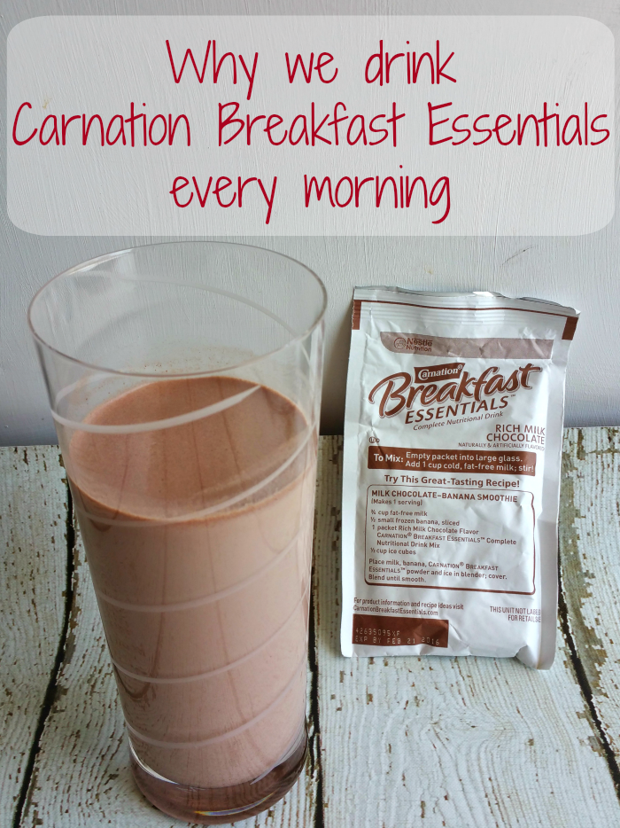 Why we drink Carnation Breakfast Essentials every morning